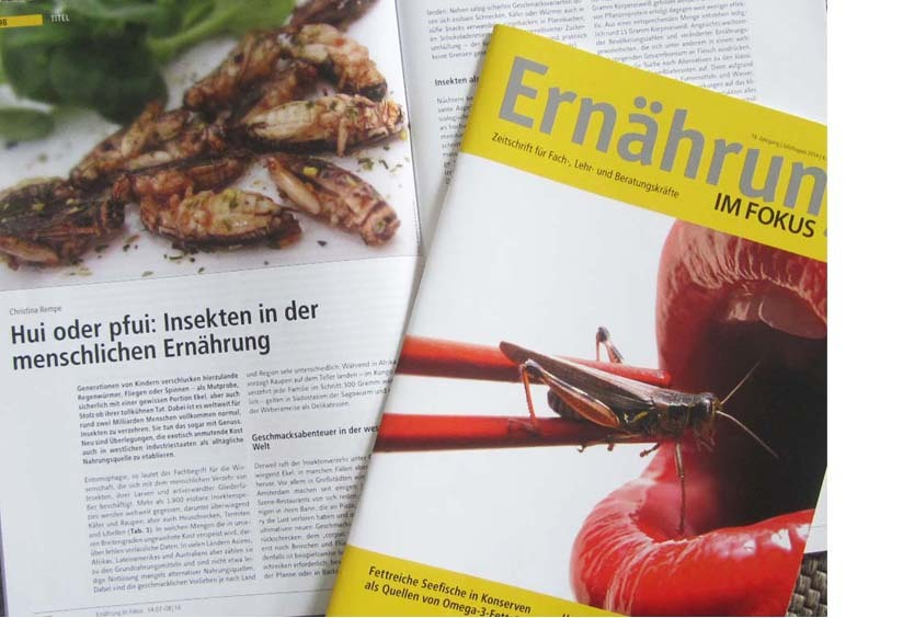 SNACK-INSECTS ESSBARE INSEKTEN INSEKTENSNACKS ERNÄHRUNGS MAGAZIN